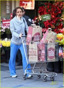 Sarah Benson doing her shopping!
