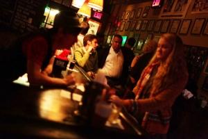 The bar at Dixon Place.